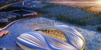 Work on Al Wakrah Stadium's steel structure