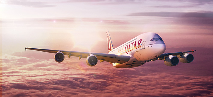 Qatar-Airways-Airbus-A380 (Qatar Flight Schedules)