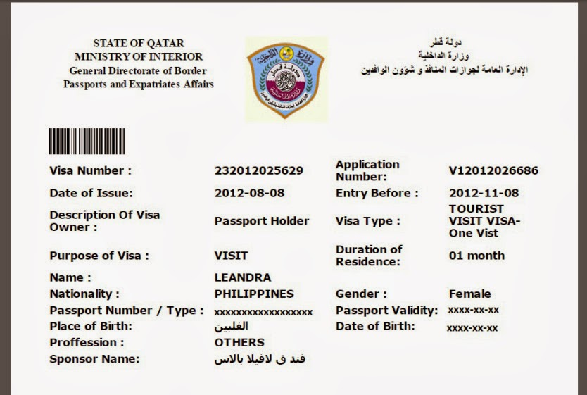 Entry to Qatar for work and residence