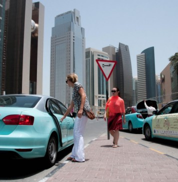 Female taxi driver service in Qatar