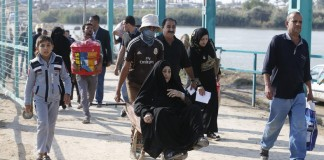 Ramadi residents fleeing ISIS
