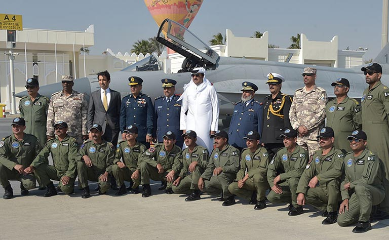 Emir Attends PAF Military Air Parade
