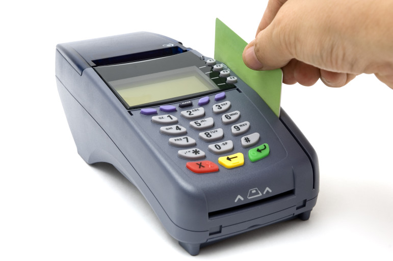Using cards instead of cash