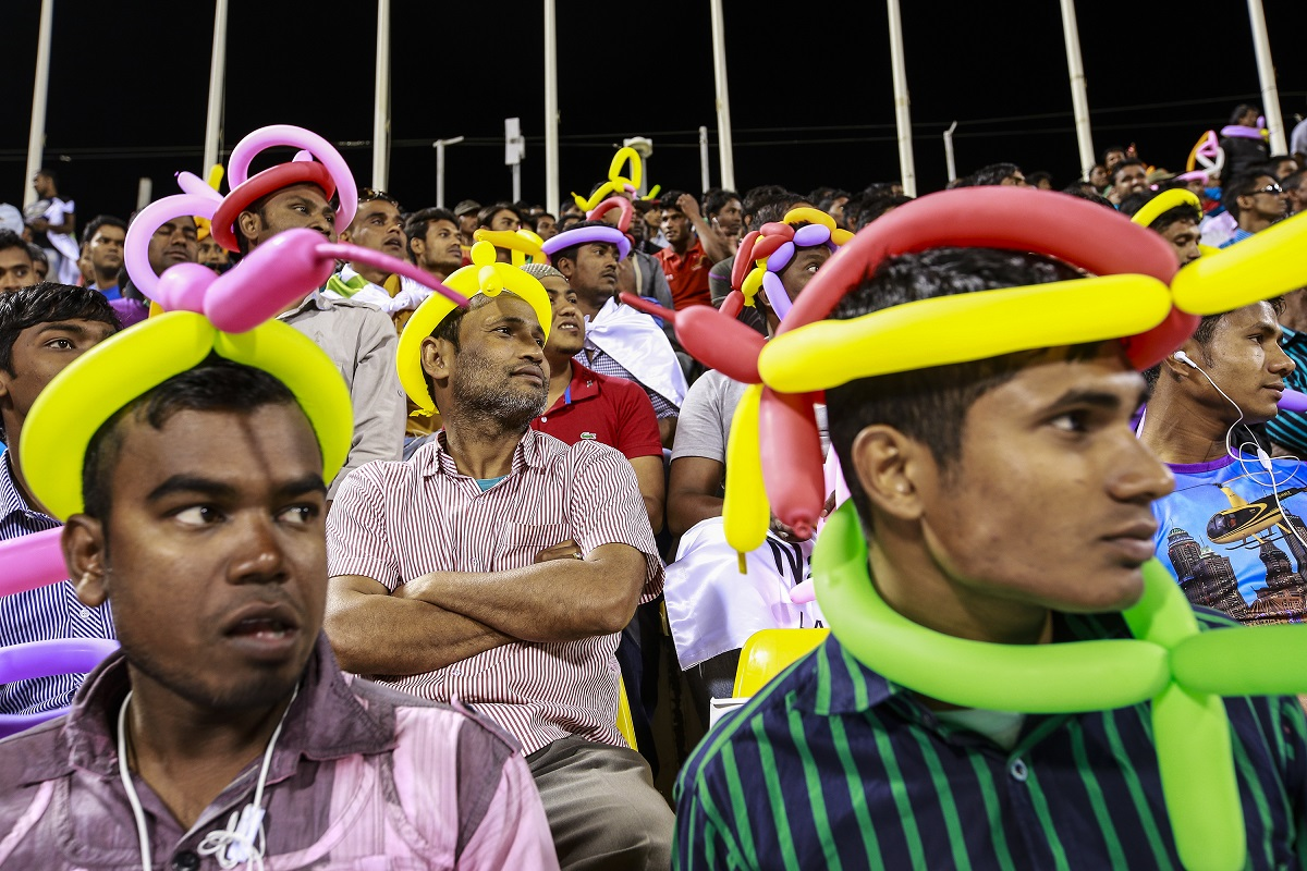 Thousands turn out for opening of Workers Cup in Qatar