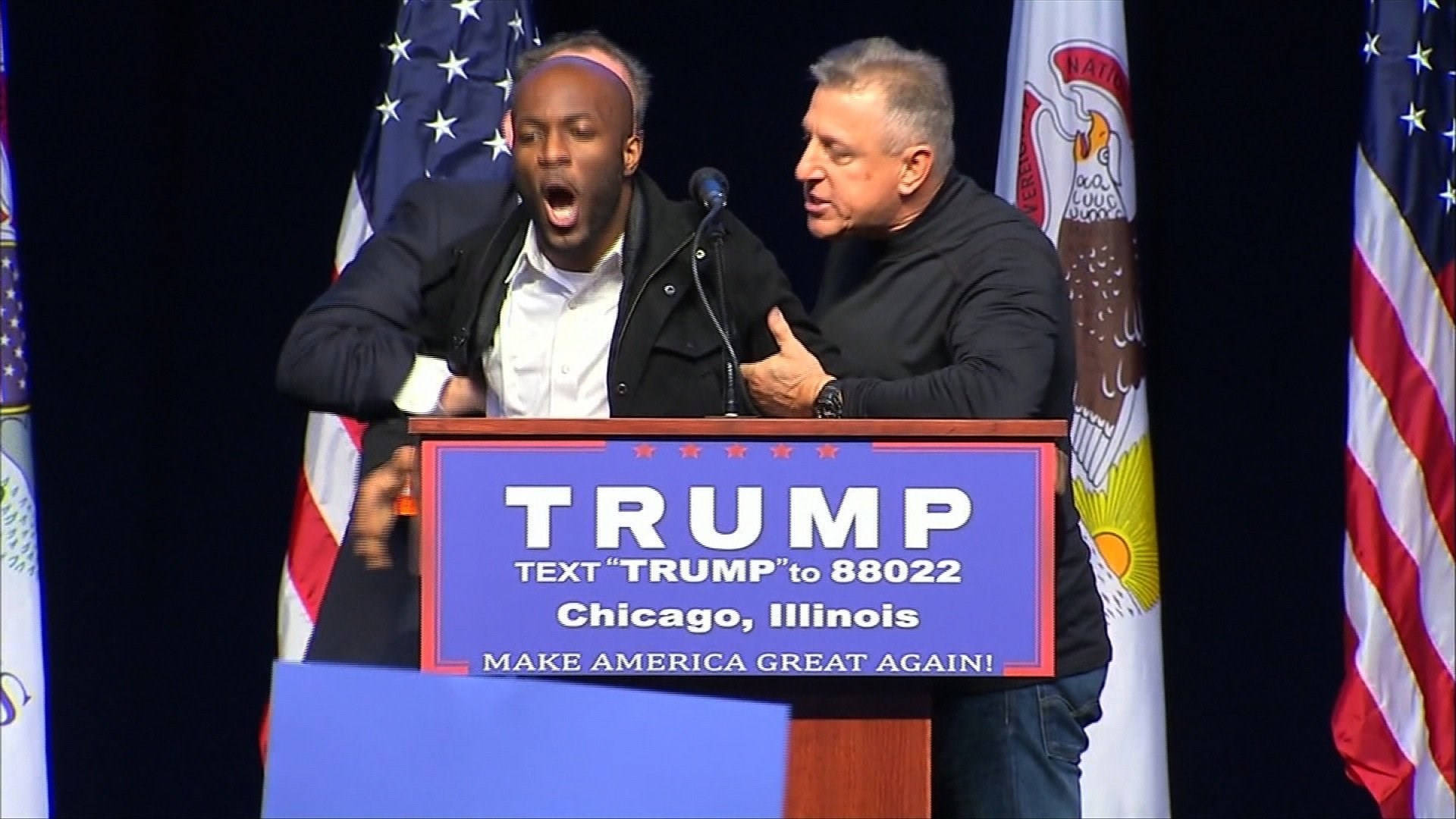 Protesters clash after Chicago rally postponed