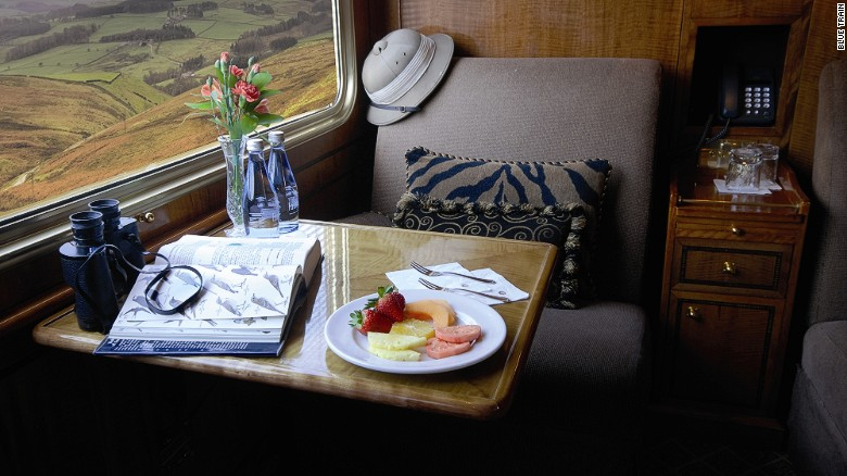 Deluxe twin room – The Blue Train offers two styles of suites -- Deluxe and Luxury.