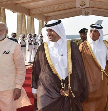 Indian Premier Arrives in Qatar