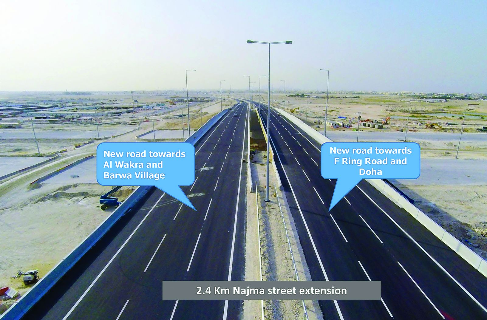 The Najma Street Extension that connects F-Ring Road