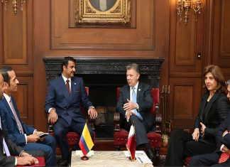 Emir, Colombian President Hold Official Talks
