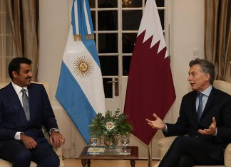 Emir Holds Session of Talks with Argentinian President