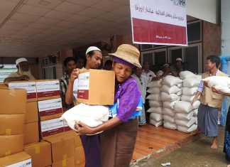 Qatar Charity Carries Out Aid Relief in Myanmar