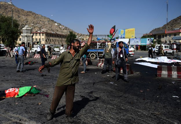Powerful blasts kill at least 80 in Kabul