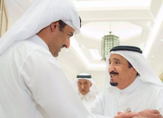 Emir Meets Custodian of the Two Holy Mosques