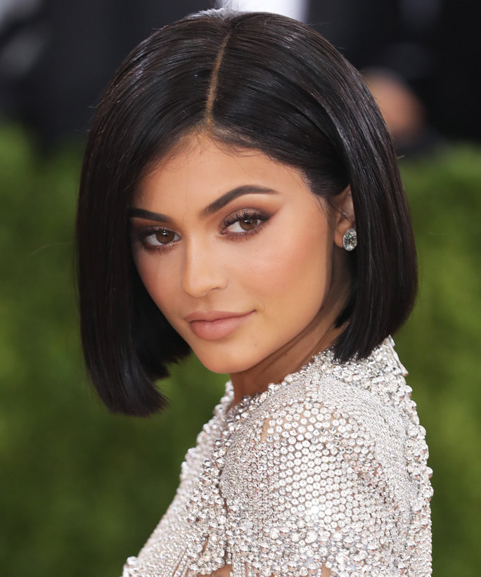 Kylie Jenner Looks White Hot in a Plunging Mini