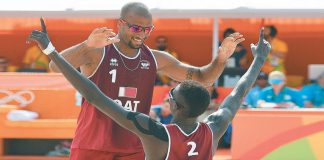 Qatar beat Spain in beach volleyball