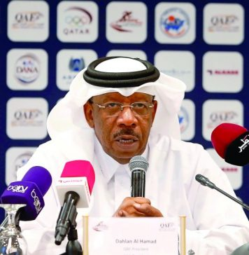 Asian Athletics Association (AAA) President Major General Dahlan Al Hamad