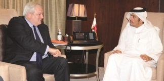 Qatar holds humanitarian aid talks with UN official