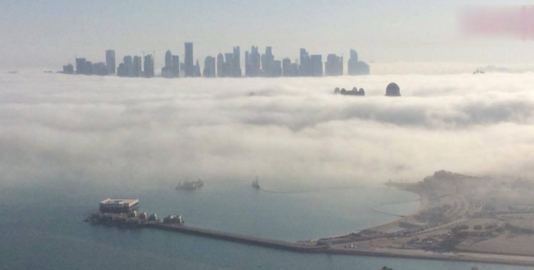 qatars-eastern-offshore-areas-doha-mesaieed-wakrah-encounter-worst-sea-fog-phenomenon