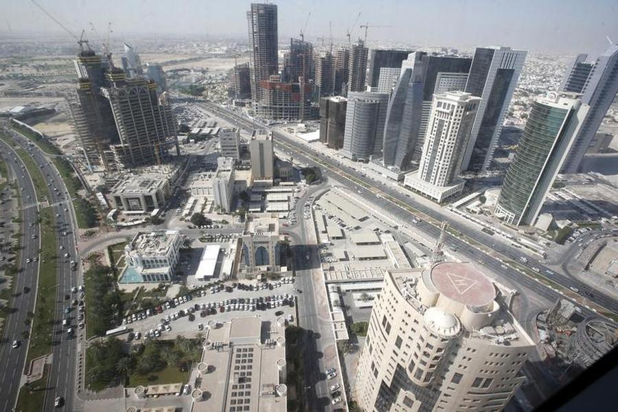 Doha city with buildings