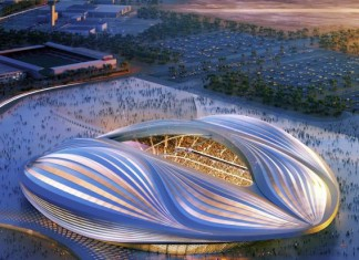Work on Al Wakrah Stadium's steel structure