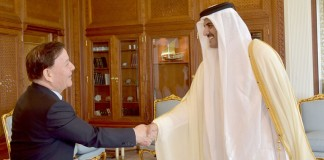 Emir Meets President of China-Arab
