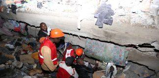 Hunt for survivors after 10 killed