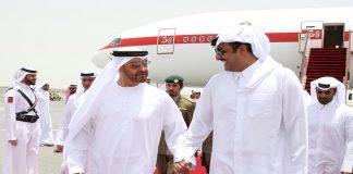 Emir Welcomes Abu Dhabi Crown Prince Upon Arrival