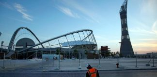 Qatar says stadium health, safety enhanced after worker dies